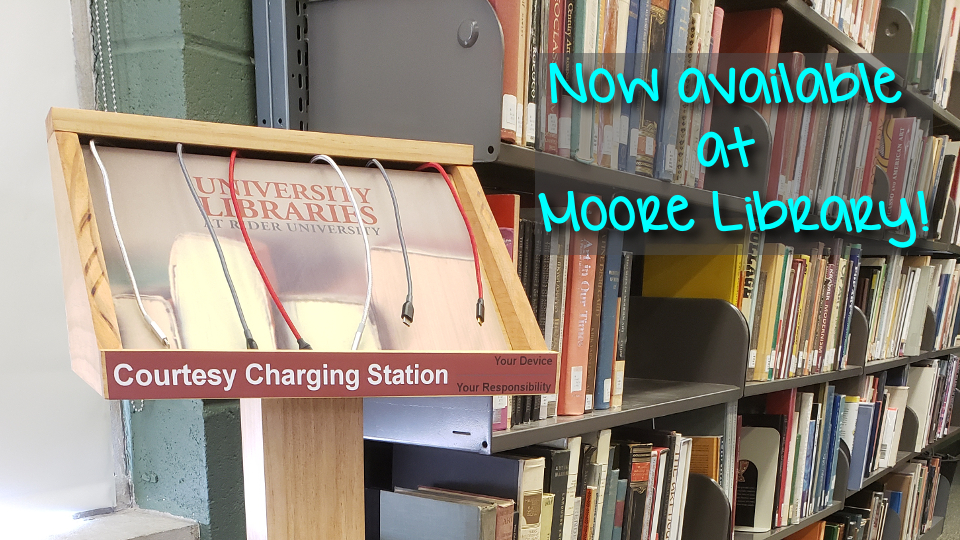 Cell Phone Charging Stations - Moore Library