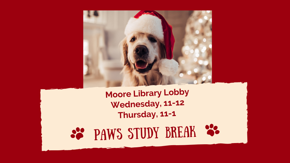 Pet Therapy Dogs in the Moore Library
