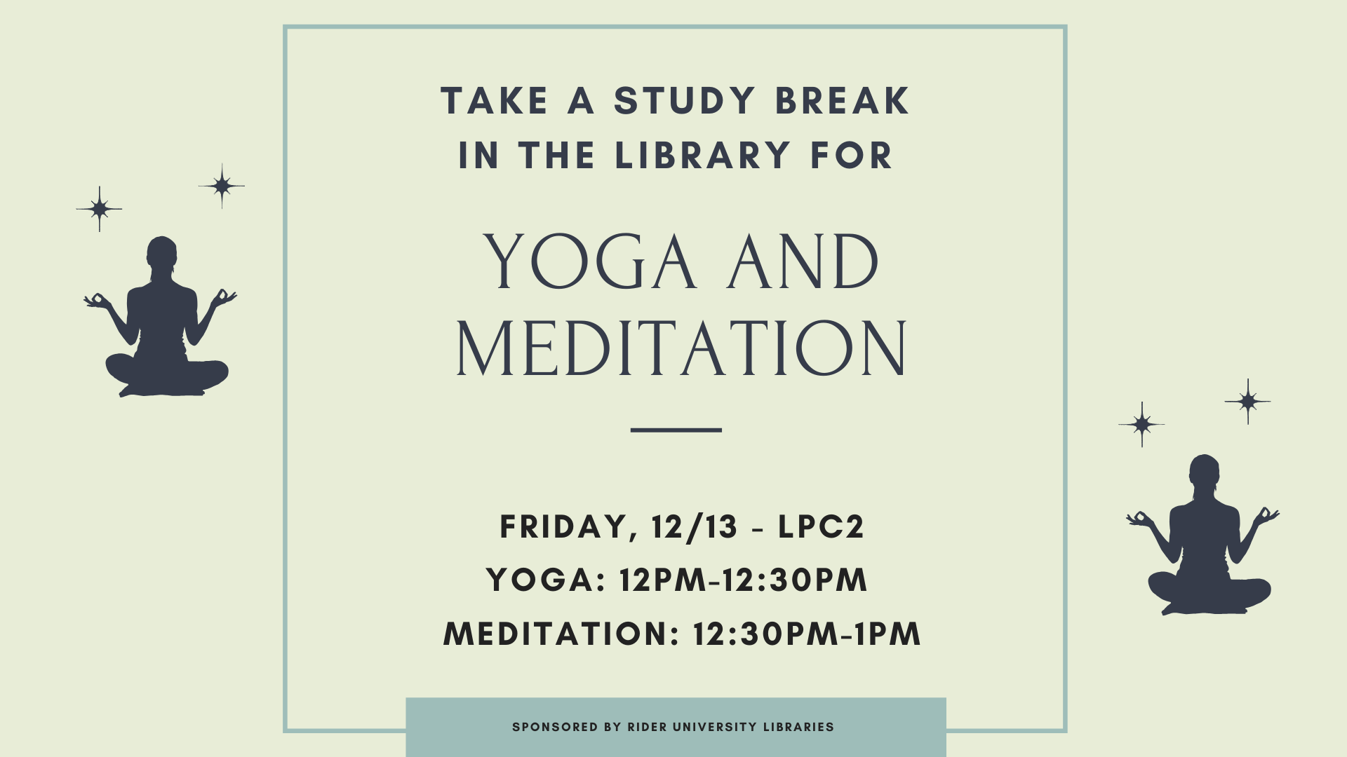 Yoga and Meditation in the Moore Library