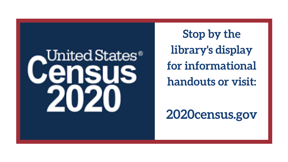 Come by the Moore Library to learn about US Census