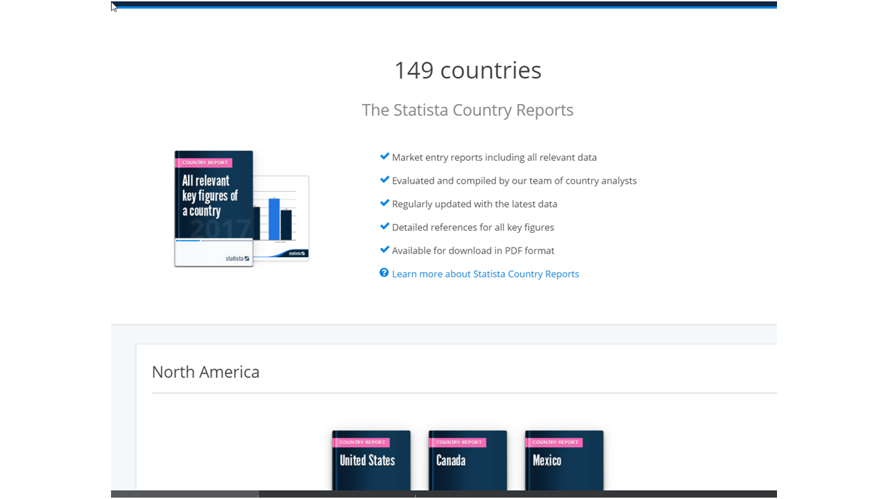 screenshot statistic country reports