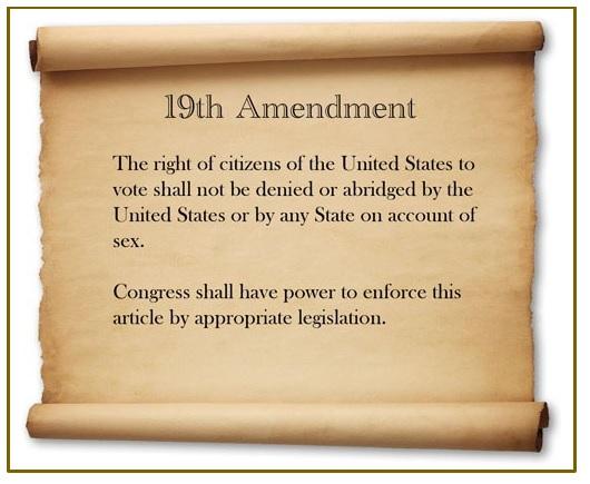 picture of the 19th amendment