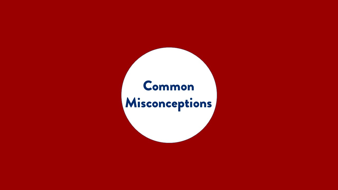 Common misconceptions. text only