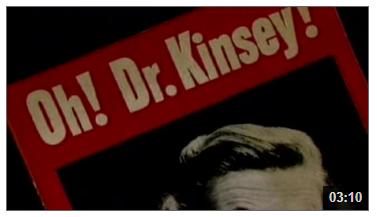 Video still from Alfred Kinsey: Social Science in America's Bedroom
