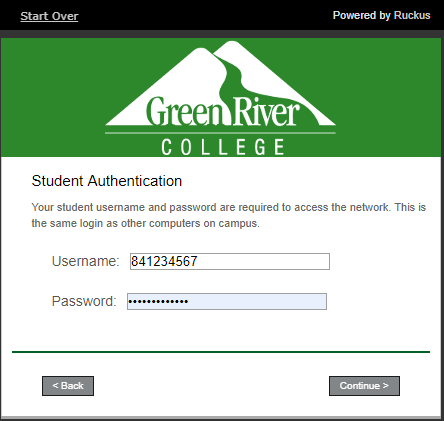 GRCWIFI Student Authentication- username and password