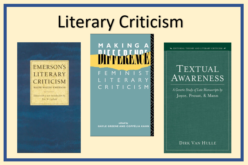 "image of three literary criticism books and the words ""literary criticism"""