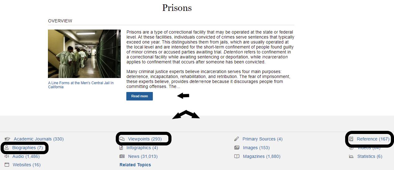 prisons info types