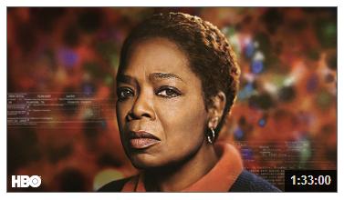 Video still, Oprah Winfrey in the Immortal Life of Henrietta Lacks