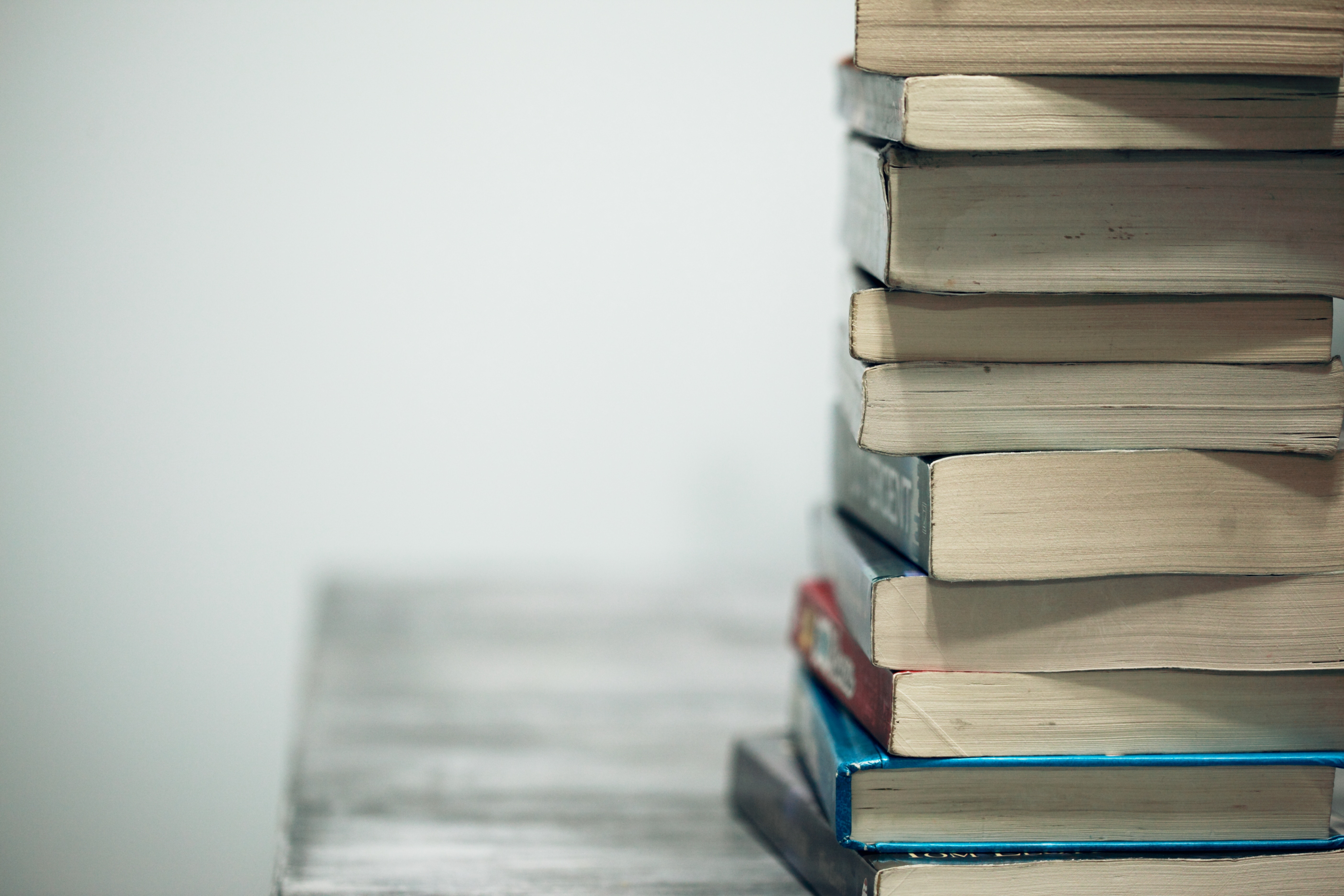 Image of a stack of books, decorative