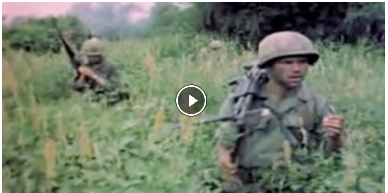 "Video still of soldiers from ""Vietnam"""