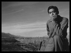 Ansel Adams photograph of Japanese Internment at Manzanar