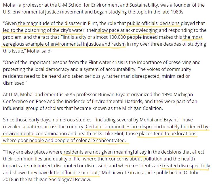 Flint water crisis - environmental racism