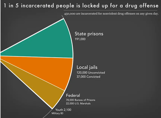 Prison Policy Initiative: 1 in 5 people are incarcerated for a drug offense