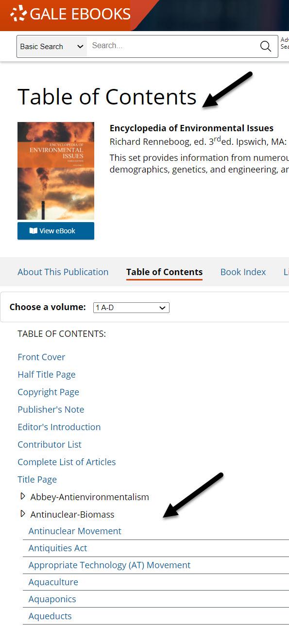 encyclopedia index for ideas