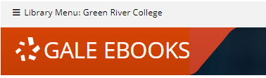 Gale ebooks header