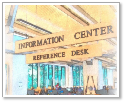 Decorative picture of the information desk