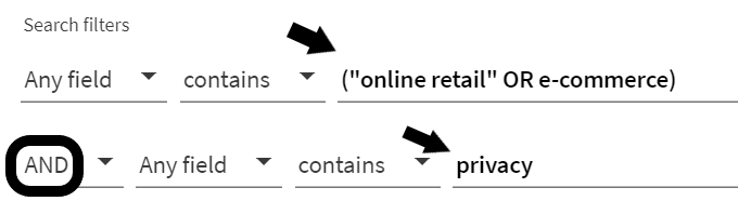 One Search: ecommerce AND privacy