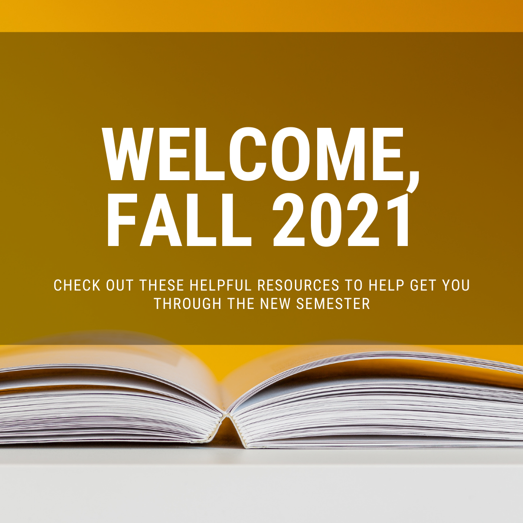 image of open book -  welcome fall 2021