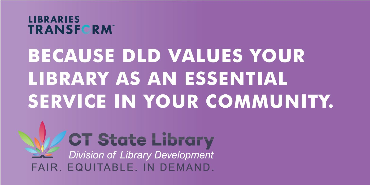 Because DLD values your library as an essential service in your community.