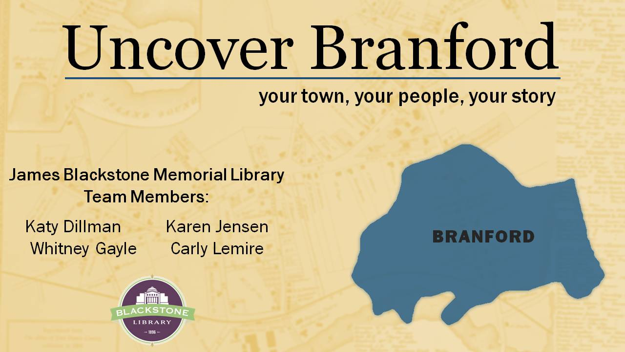 Uncover Branford presentation slide