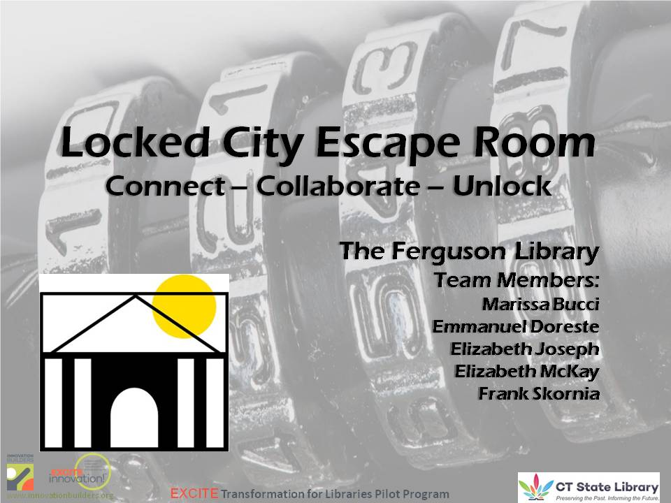 Locked City Escape Room presentation slide