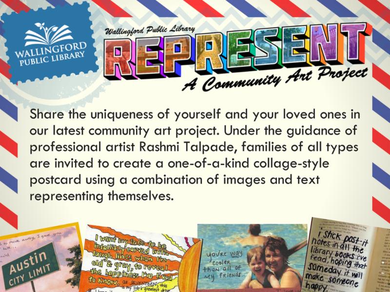 invitation to participate in Represent community art project
