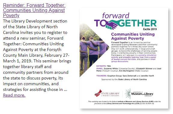 announcement of Forward Together program