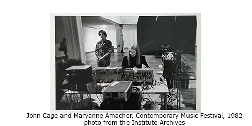 John Cage and Maryanne Amacher