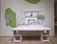 A build-out replica of Mitch Watley's studio