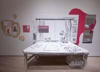 A build-out replica of Michaela Goade's studio