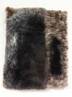 A painting/sculpture made from sea otter fur
