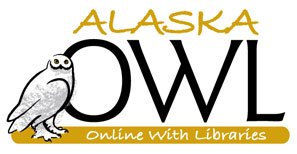 Logo: Alaska OWL (Online with libraries).