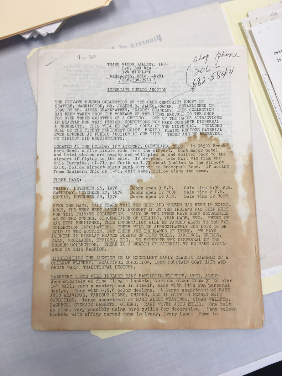 Stained document.