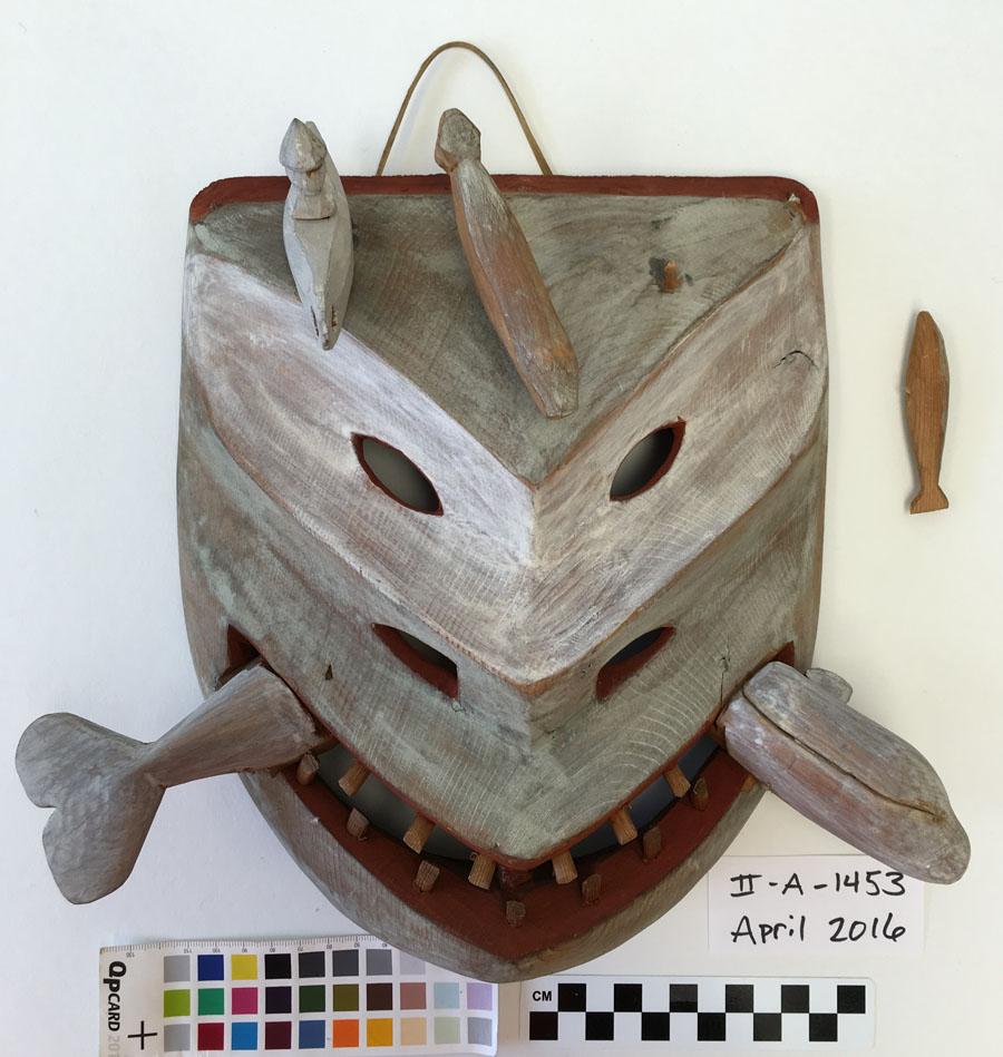 Mask thin paint detached element.