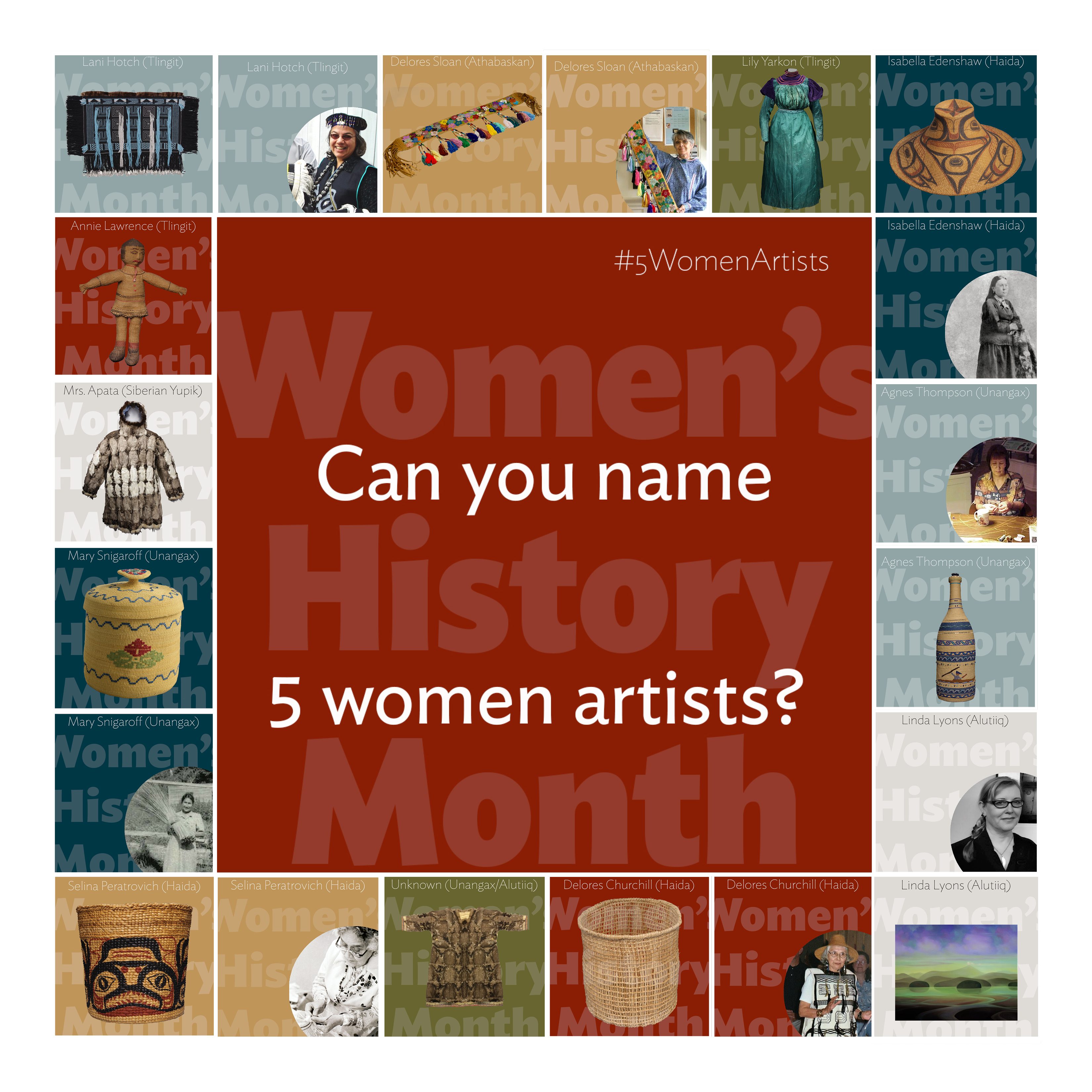 Women's History Month: Can you name 5 women artists?