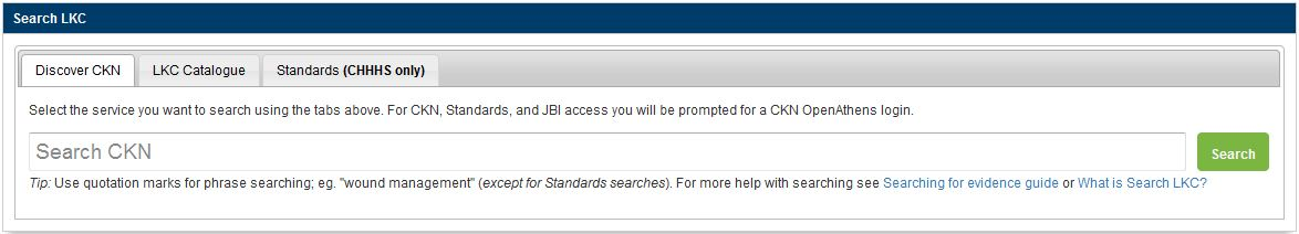 Search LKC widget screenshot from Library website