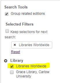 libraries worldwide filter