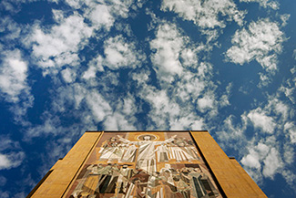 Word of Life mural, Hesburgh Library, University of Notre Dame