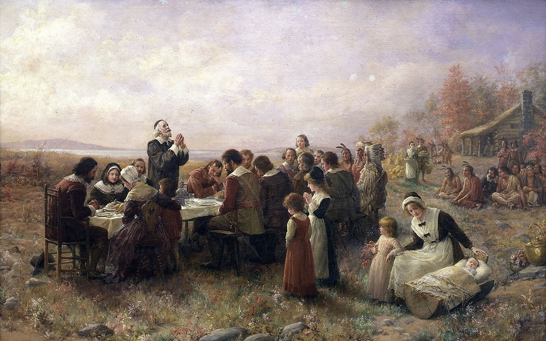 The First Thanksgiving painting by Brownscombe
