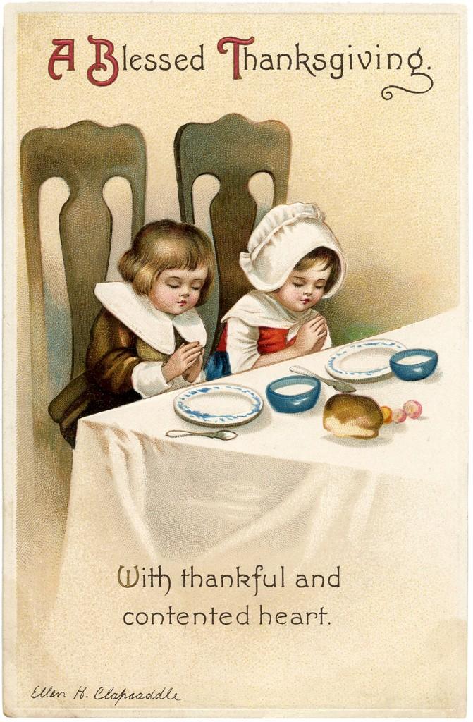 Retro Thanksgiving Card