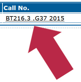 call number in catalog record