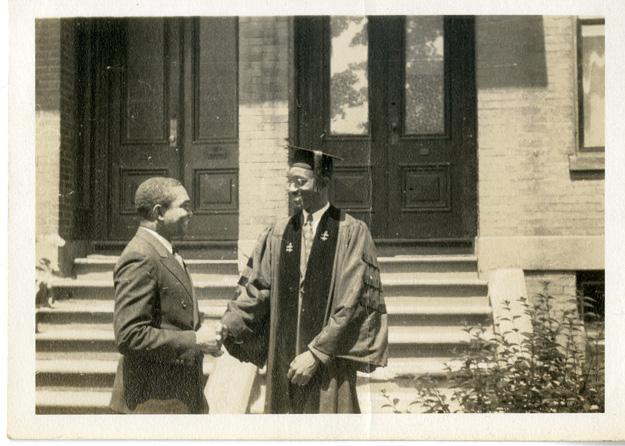 John Hope Franklin and Emory Johnson, Harvard University