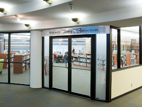 Picture of Curriculum Media Center entrance