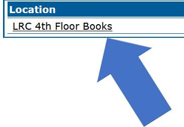 location in catalog record