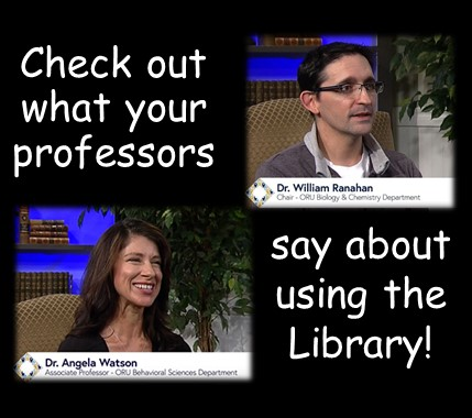 Professors Promote Using Library Resources videos