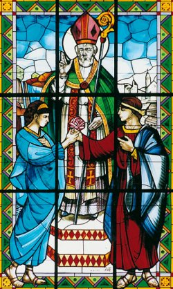 St Valentine Stained glass window