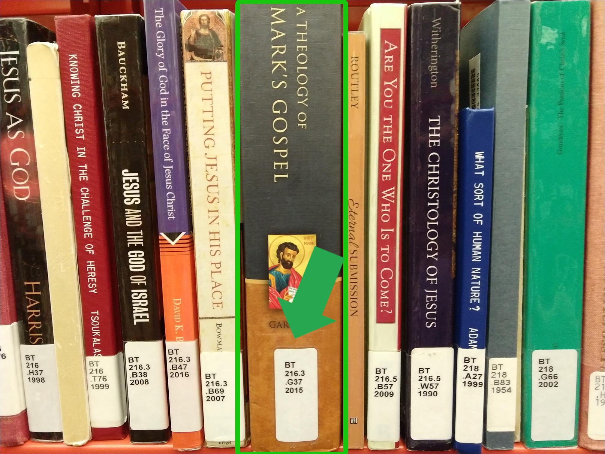 book shelf location