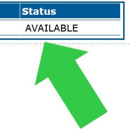 status in catalog record