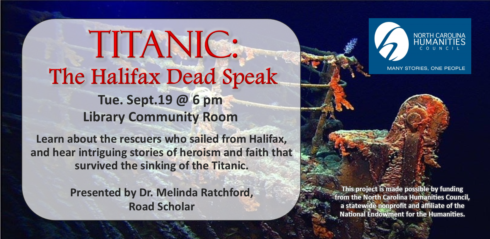 Titanic: The Halifax Dead Speak