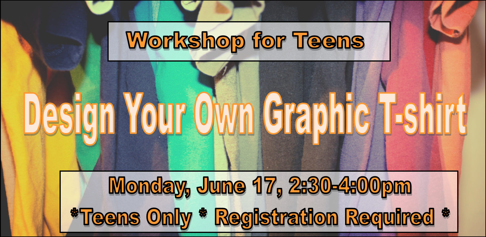 Design Your Own Graphic T-Shirt Workshop